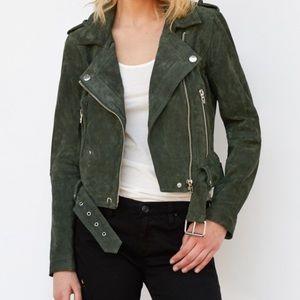 Blank NYC Suede Moto Jacket - OLIVE JUICE